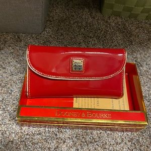 Dooney & Bourke Red Patent wallet.